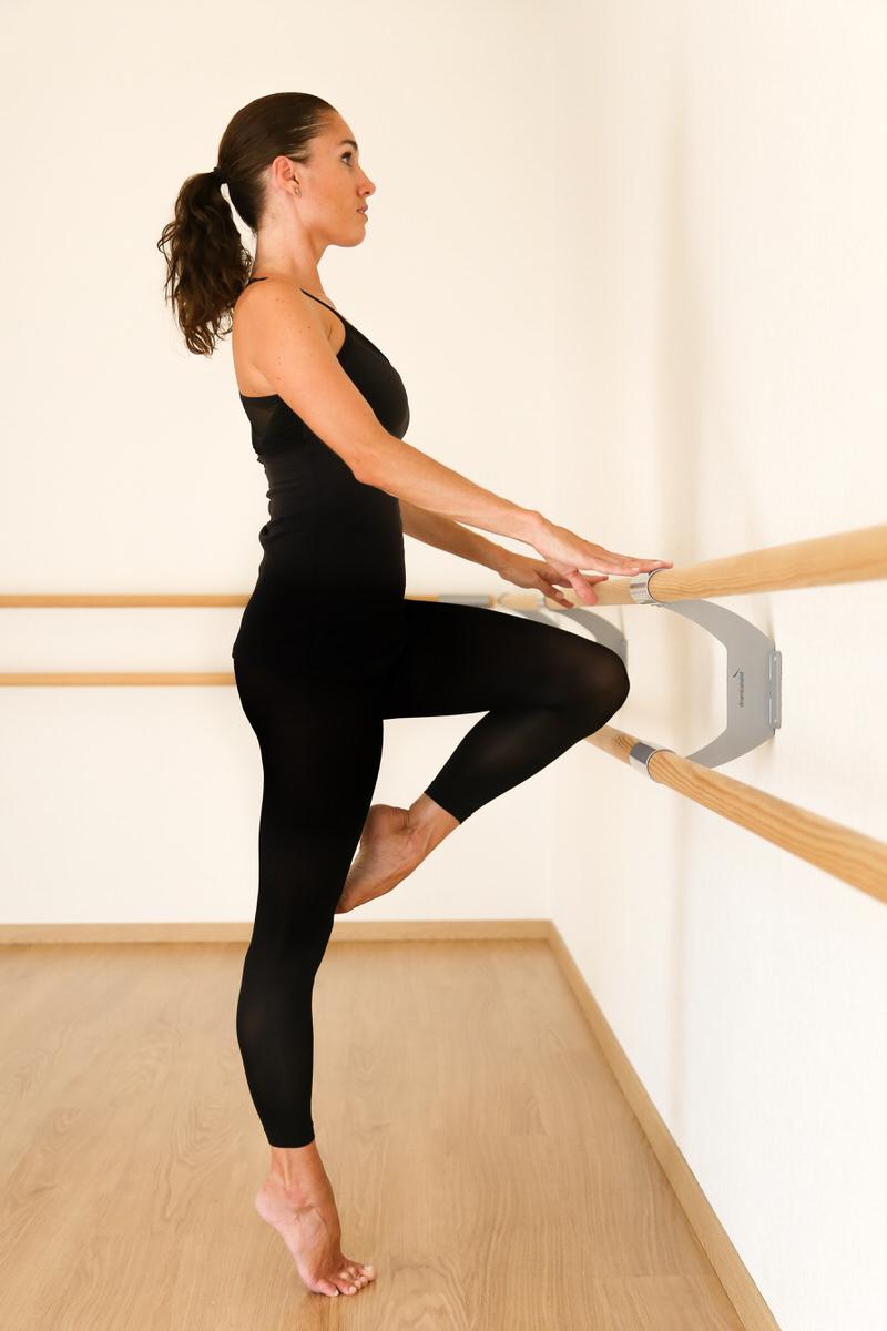 Retiré relevé en Pilates Barre