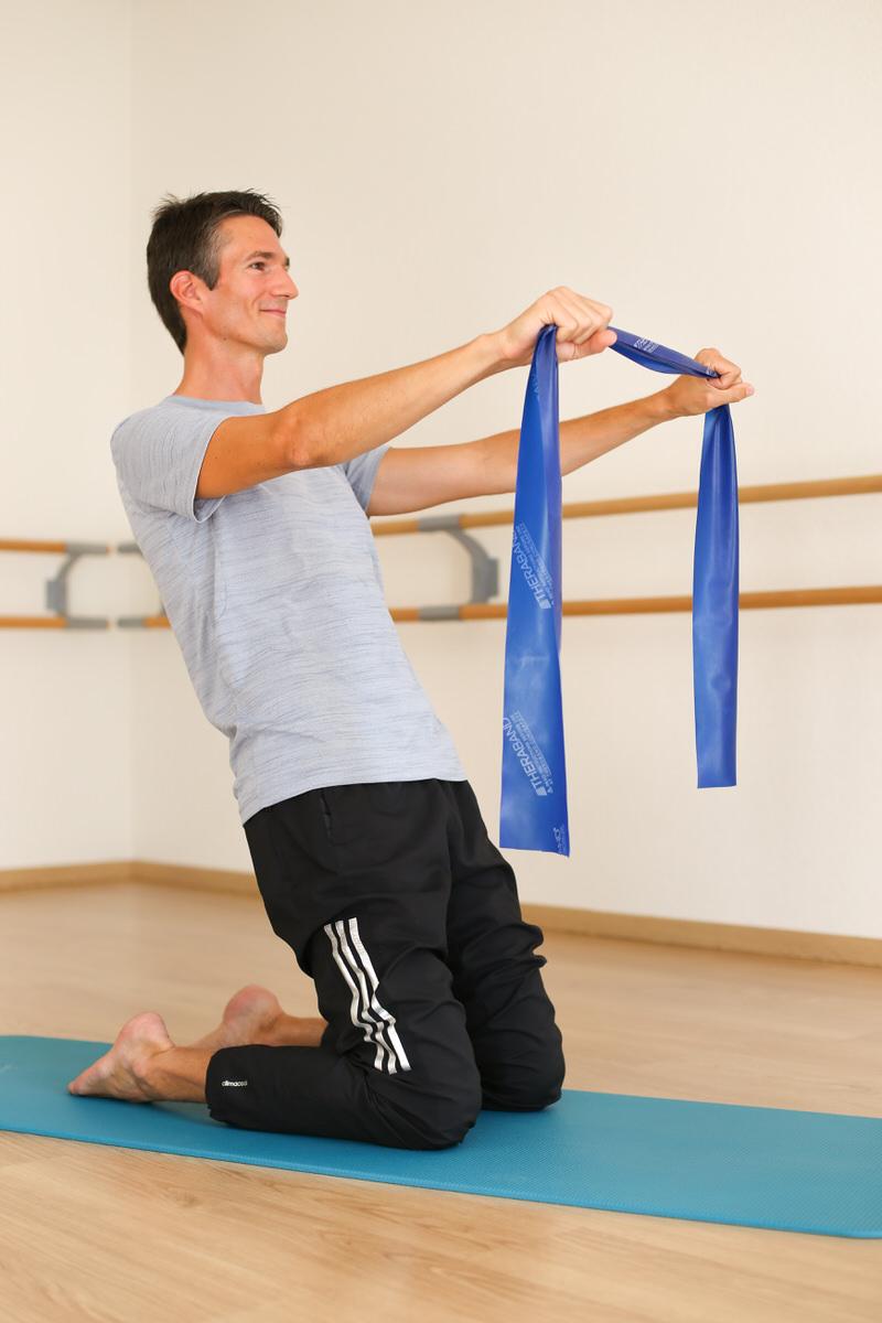 Cours de Stretch Pilates avec un élastique